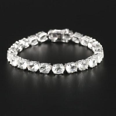 Sterling Silver Praseolite Bracelet