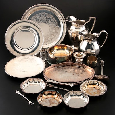 Silver Plate Serveware and Trays by Holmes & Edwards, Oneida, and Others