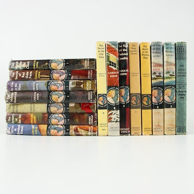 "Vintage ""Nancy Drew Mystery Story"" Books by Carolyn Keene, 15 Volumes"
