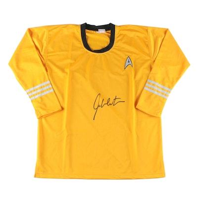 """William Shatner """"Capt. James T. Kirk"""" Signed Star Trek Shirt, JSA COA"""