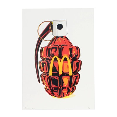 "Death NYC Pop Art Offset Lithograph ""McBomb Red Y"""