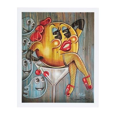"""Robert Tatum """"Pacman's Ruin"""" Pop Art Giclée"""