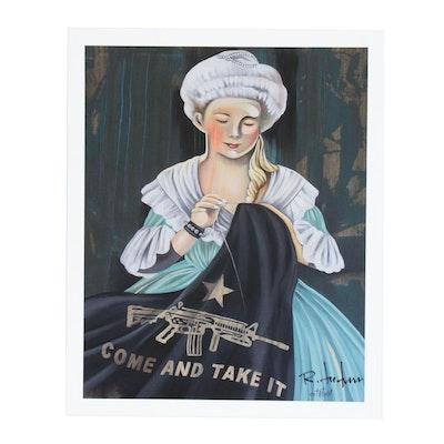 "Robert Tatum Pop Art Giclée ""Come and Take It"""