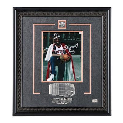 Framed Bernard King Madison Square Garden Presentation Display   COA