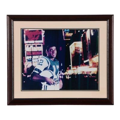 Framed Joe Namath New York City Photo Print