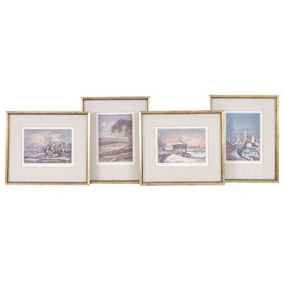 Floyd Berg Offset Lithographs of Cincinnati, Ohio Landscapes