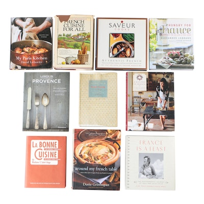 """French Cuisine Cookbooks Including """"Mastering The Art of French Cooking"""" Vol. II"""