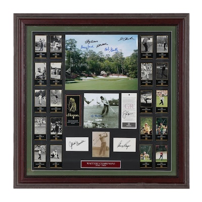 "Framed ""Masters Champions 1950-1969"" Signed Display   COA"