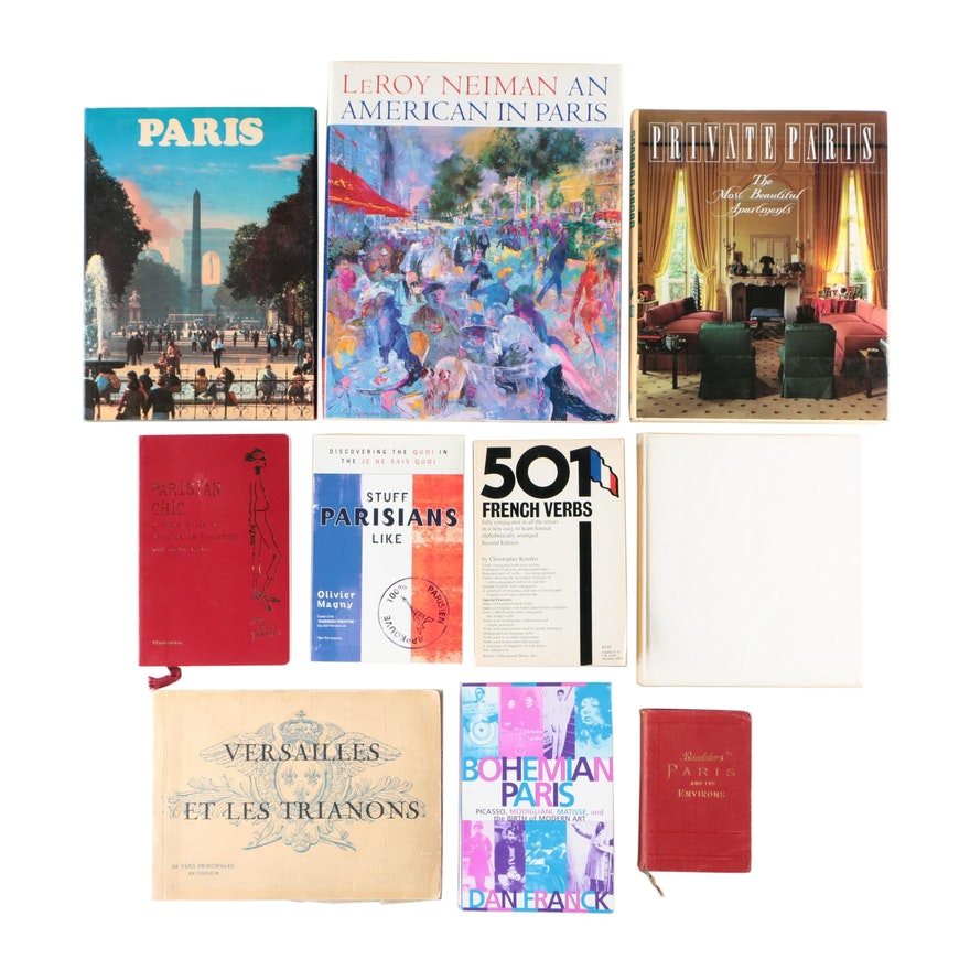 French Art, Design, Education, and Travel Books Including Karl Baedeker