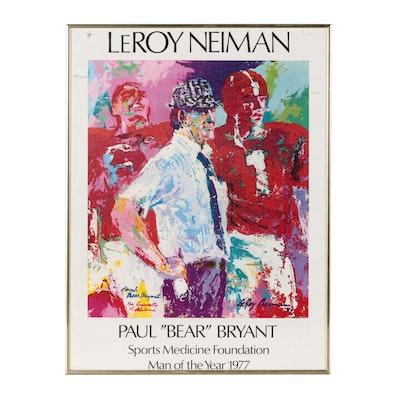 Bear Bryant LeRoy Nieman Man of the Year Sports Medicine Framed Print, 1977