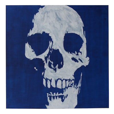 deSanto Acrylic Painting of a Skull