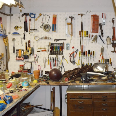 Hand Tools and Tool Storage Cabinet