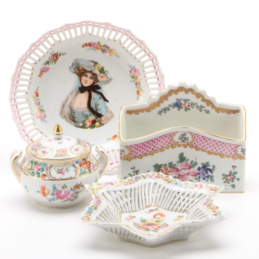 C.G. Schierholz & Sohn and Carl Thieme with Edme Samson Porcelain, Late 19th C