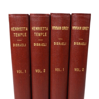 """Henrietta Temple"" and ""Vivian Grey"" by Benjamin Disraeli in Two Volumes"