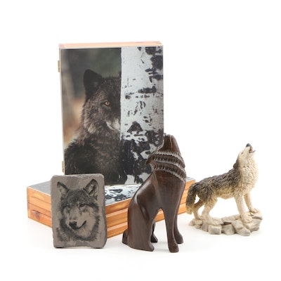 Castagna Wolf Figurine and Other Wildlife Tabletop Accessories