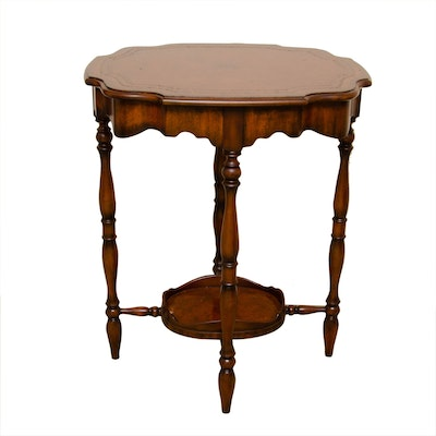 "Maitland-Smith ""Laurel"" Mahogany Veneered and Stained Side Table, Contemporary"