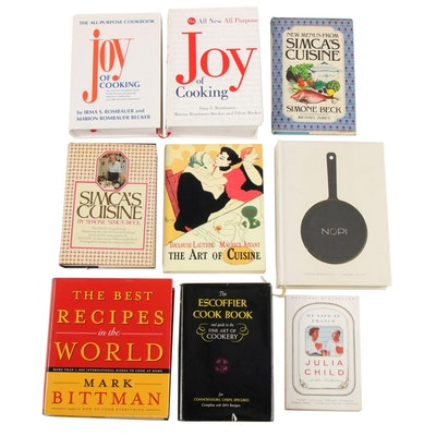 """Cookbooks Including """"The Joy of Cooking"""", """"Simca's Cuisine"""", and """"Nopi"""""""