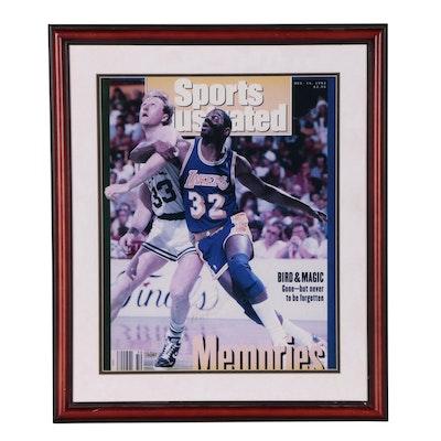 "Framed Magic Johnson Signed ""Sports Illustrated"" Enlarged Cover   COA"