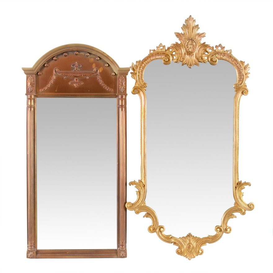 Federal and Baroque Style Gilt Wall Mirrors