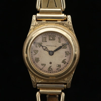 Vintage John Harwood Gold Filled Bezel Set Automatic Wristwatch, Circa 1926