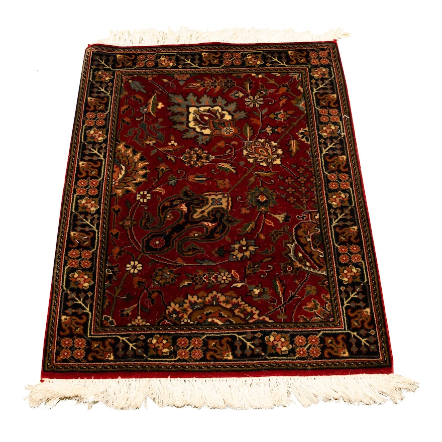 2'2 x 3' Hand-Knotted Indo-Persian Wool Rug