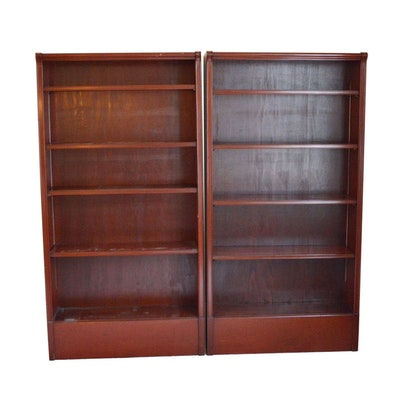 Pair of Cherry Stained Bookcases, Late 20th Century