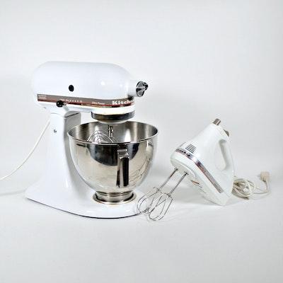 KitchenAid 4.5 Quart Stand Mixer and Hand Mixer