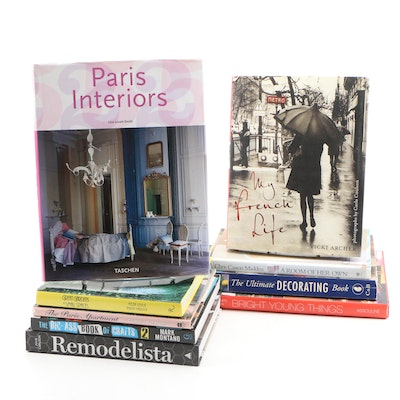 "Interior Decorating Book Collection including ""Remodelista"" by Julie Carlson"