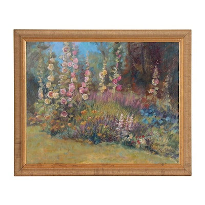 "Floral Oil Painting ""Sue's Garden"""