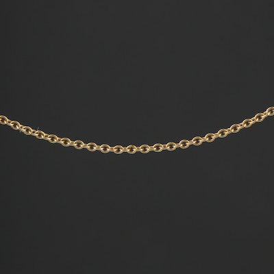 Elsa Peretti for Tiffany and Co. 18K Yellow Gold Chain Link Necklace