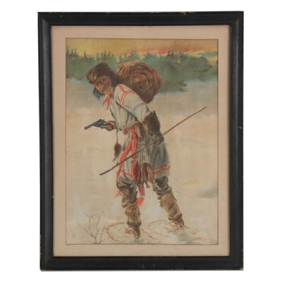 Chromolithograph of Mountain Man, Early 20th Century
