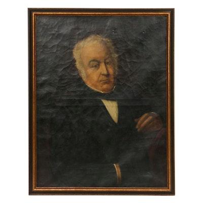 Oil Painting Portrait of Man, 19th Century