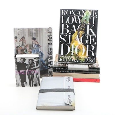 Fashion Designer Books featuring Halston, Versace, Galliano, Chalayan and Others