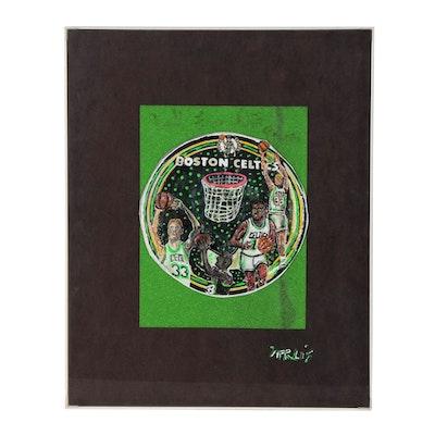 Mixed Media Artwork Featuring Boston Celtics