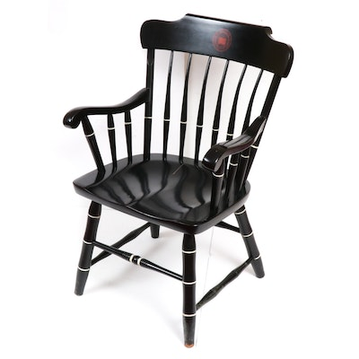 Indiana University Spindle-Back Painted Wood Armchair, Late 20th Century