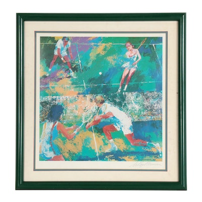 "LeRoy Neiman Offset Lithograph ""Mixed Doubles"""
