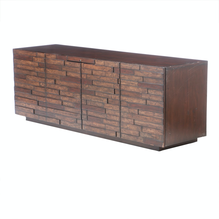 "Lexington Designs ""Criss-Cross"" Wood Media Console"