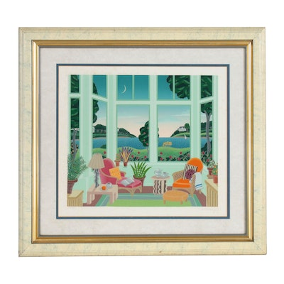 "Thomas Mcnight Serigraph ""Daydreams: Massachusetts"""