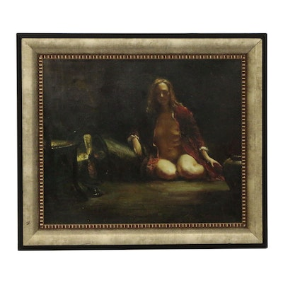 Figure Oil Painting, Late 20th Century