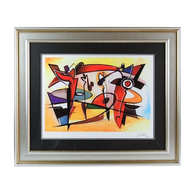 "Alfred Gockel Serigraph ""Afternoon Jam Session"""