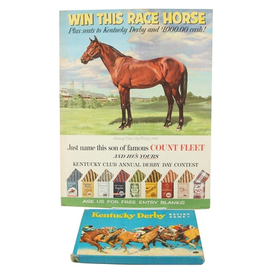 Tobacco Contest Advertisement and Board Game Featuring the Kentucky Derby