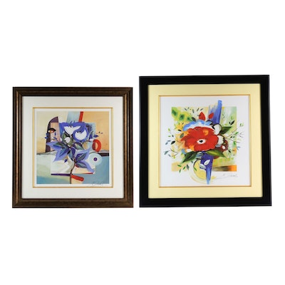 "Alfred Gockel Embellished Prints ""Summer Dream II"" and ""Untitled"""
