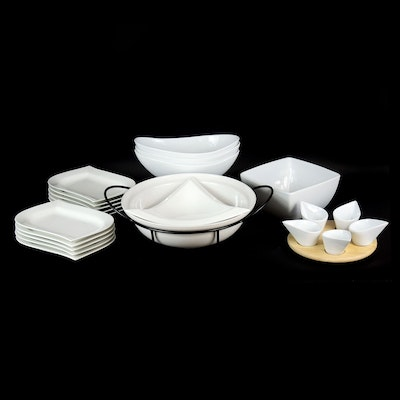 "Over and Back ""White Elegance"" Porcelain Bowls and Other Serveware"