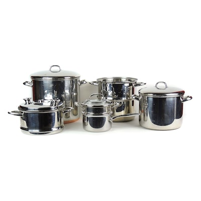 Revere Ware Stainless Steel Stockpot, Food Network Sauce Pan, and Other Pots