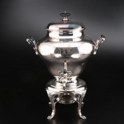 International Silver Co. Silver Plate Samovar