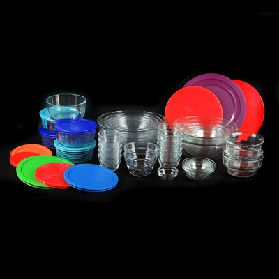 Pyrex Glass Mixing Bowls, Pampered Chef Glass Prep Bowls, and Other Glass Bowls