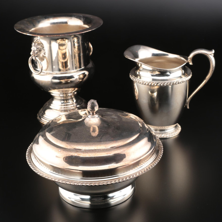 """Wm. Rogers """"Avon"""" Silver Plate Pitcher and Other Serveware"""