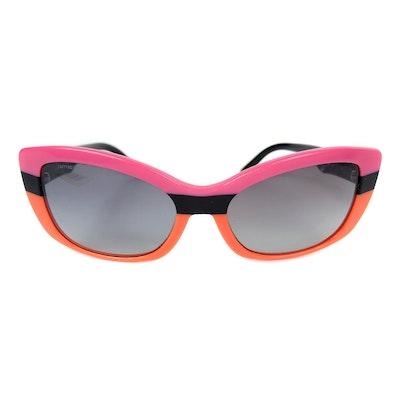 Prada SPR03N Modified Cat Eye Sunglasses