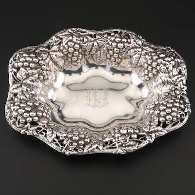 Gorham Grapevine Repoussé Sterling Silver Bowl, 1898
