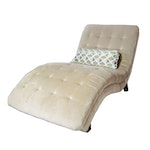 Broadmoore Tufted Chaise Lounge Chair, Contemporary